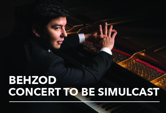 MEDIA ALERT Behzod Abduraimov Will Perform FREE Solo Simulcast at 1900 Building